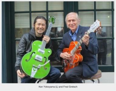 Ken Yokoyama、Gretsch 社の社長、Fred Gretsch さんとミーティングの模様が本国の公式ホームページに掲載!